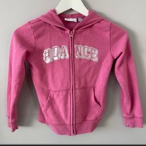 Children's place size 5 zip up hoodie sweater pink